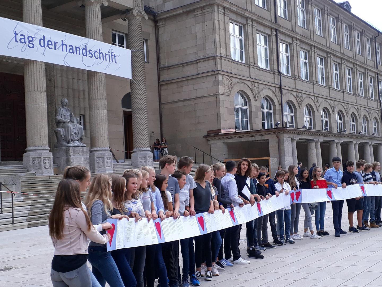 Die Teilnehmer am Tag der Handschrift in Wiesbaden